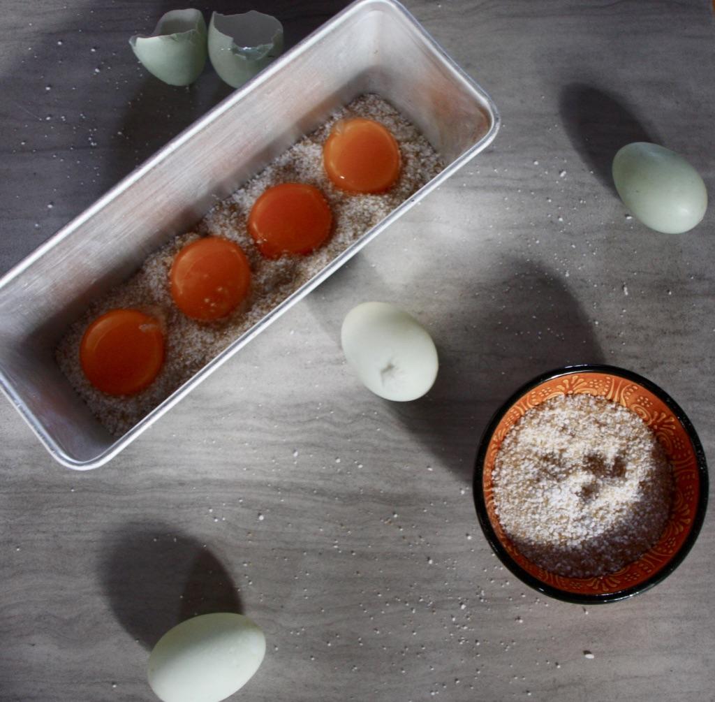 Saltede, tørrede æggeblommer